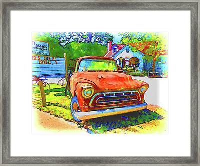 Antique Tow Truck Framed Print by Lanjee Chee