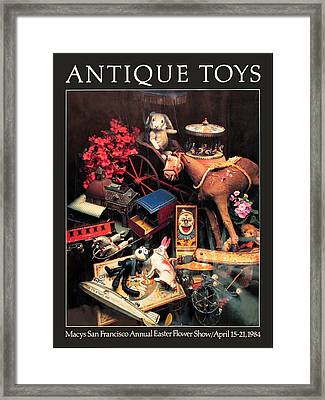 Antique Toys Framed Print by Richard Nodine