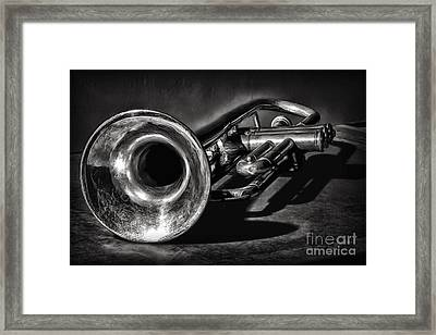 Antique Trumpet 1 Framed Print