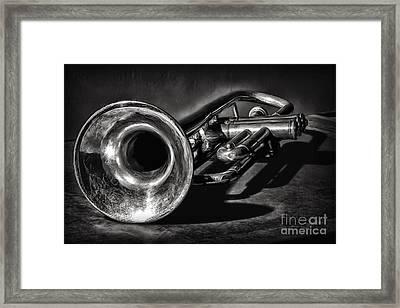 Antique Trumpet 1 Framed Print by Walt Foegelle