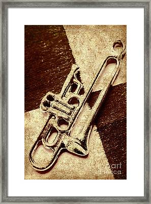 Antique Trumpet Club Framed Print