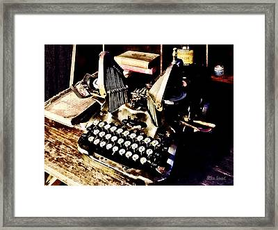 Antique Typewriter Oliver #9 Framed Print by Susan Savad