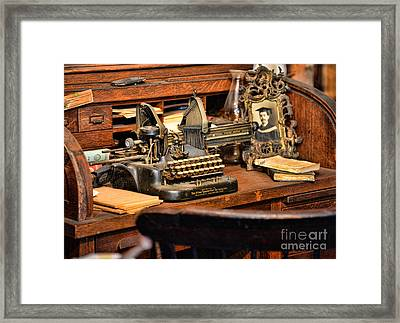 Antique Typewriter Framed Print