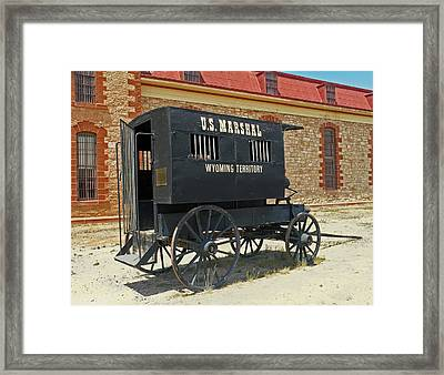 Antique U.s Marshalls Wagon Framed Print