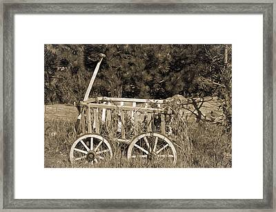 Antique Wagon Framed Print by Donna Kennedy