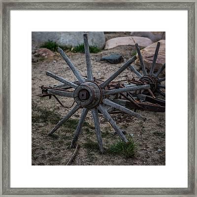 Antique Wagon Wheel Framed Print by Paul Freidlund