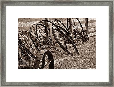 Antique Wagon Wheels II Framed Print by Tom Mc Nemar