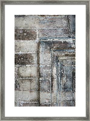 Antique Wall Detail Framed Print by Elena Elisseeva