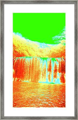 Antique Waterfall Framed Print by Erika Swartzkopf