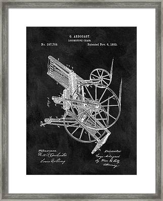 Antique Wheelchair Patent Framed Print by Dan Sproul