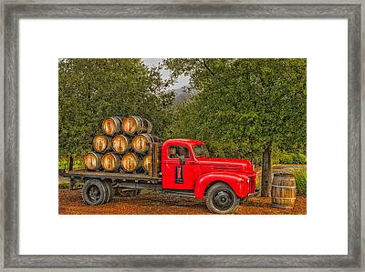 Antique Winery Truck Framed Print