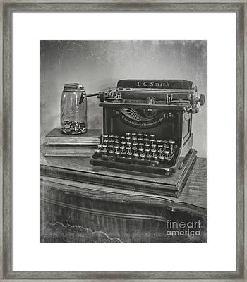 Antiqued Framed Print