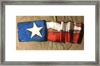 Antiqued Texas Flag Framed Print