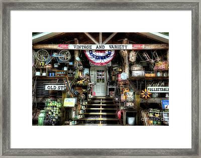 Antiques And Collectibles Framed Print
