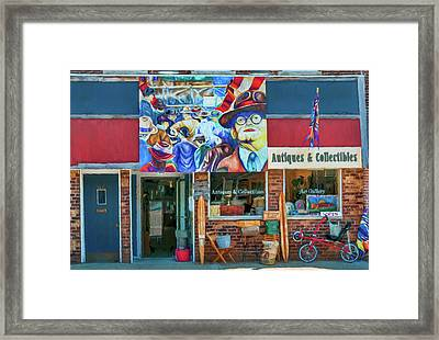 Antiques And Collectibles Framed Print by Trey Foerster
