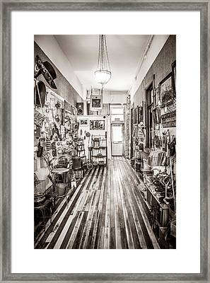 Antiques And Old Wood Floor Framed Print