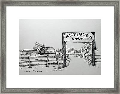 Antiques And Stuff Framed Print
