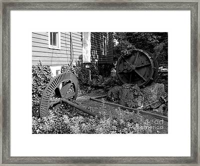 Antiques At Red Mill - Black And White Framed Print by Jacqueline M Lewis
