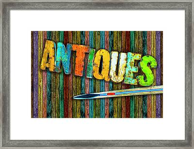Framed Print featuring the photograph Antiques by Paul Wear