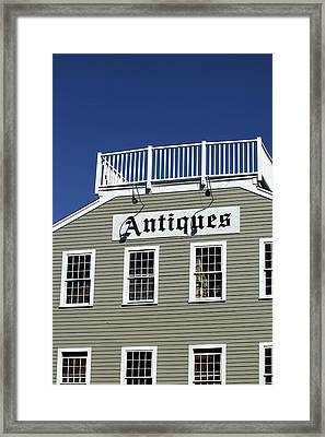 Antiques - Summerland California Framed Print by Art Block Collections