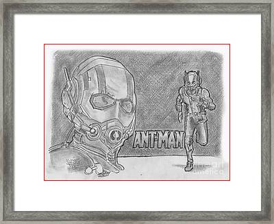 Antman Framed Print by Chris DelVecchio
