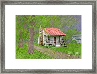 Antoine Lalumandiere House  Framed Print by Larry Braun
