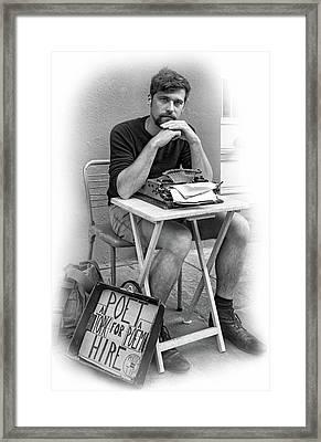 Antoine - Vignette Bw Framed Print