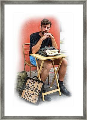 Antoine - Vignette Framed Print