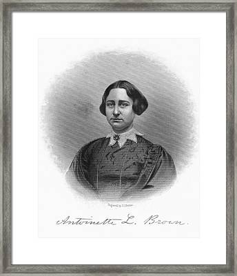 Antoinette Brown Blackwell Framed Print