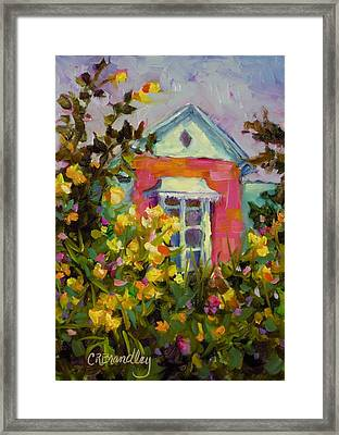 Framed Print featuring the painting Antoinette's Cottage by Chris Brandley