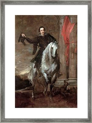 Anton Giulio Brignole-sale On Horseback Framed Print