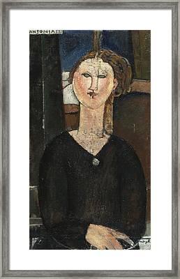 Antonia Framed Print by Amedeo Modigliani