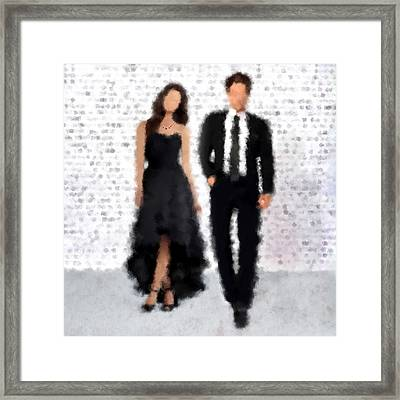 Framed Print featuring the digital art Antonia And Giovanni by Nancy Levan