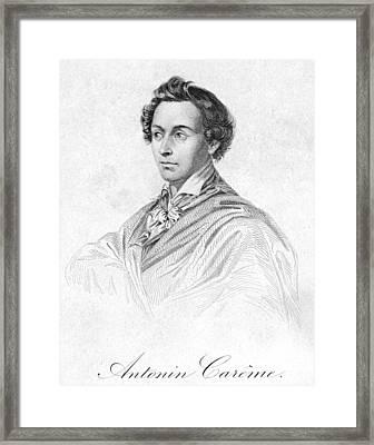 Antonin Car�me (1783-1833) Framed Print by Granger