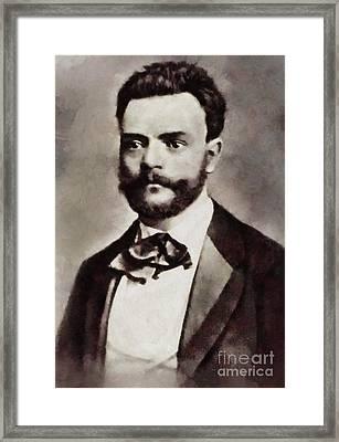 Antonin Dvorak, Composer By Sarah Kirk Framed Print