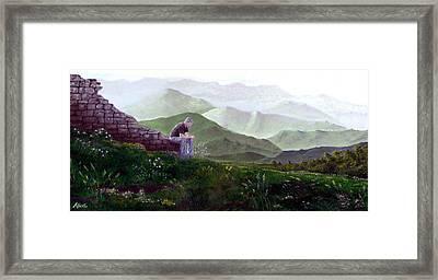 Antonio Atop La Rocca De Monte Calvo Framed Print by Albert Puskaric