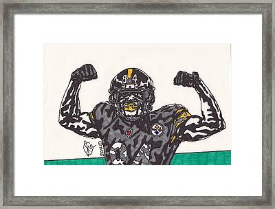 Antonio Brown  Framed Print by Jeremiah Colley