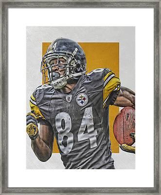 Antonio Brown Pittsburgh Steelers Art 3 Framed Print by Joe Hamilton