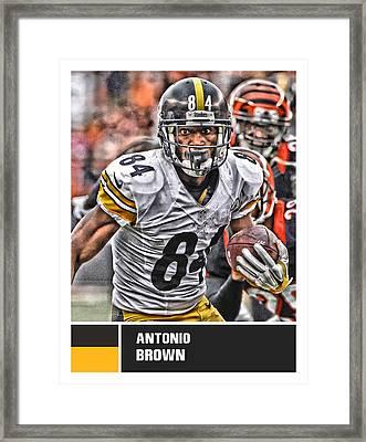 Antonio Brown Pittsburgh Steelers Framed Print by Joe Hamilton