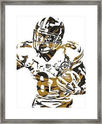 Antonio Brown Pittsburgh Steelers Pixel Art 5 Framed Print by Joe Hamilton