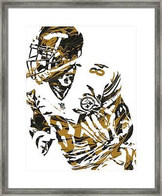 Antonio Brown Pittsburgh Steelers Pixel Art 7 Framed Print by Joe Hamilton