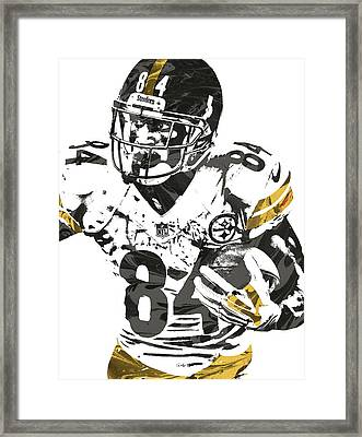 Antonio Brown Pittsburgh Steelers Pixel Art Framed Print by Joe Hamilton