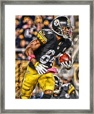 Antonio Brown Steelers Art 2 Framed Print