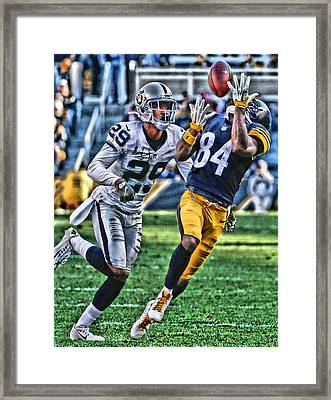 Antonio Brown Steelers Art 3 Framed Print