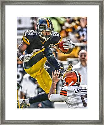 Antonio Brown Steelers Art 5 Framed Print