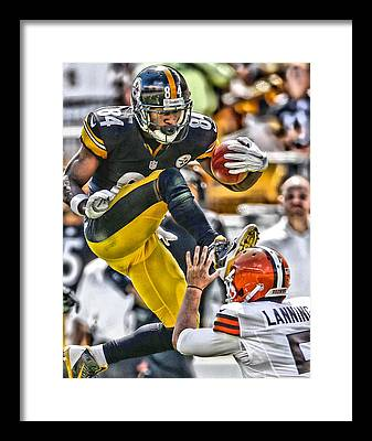 Antonio Brown Framed Prints