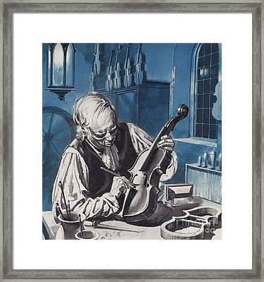 Antonio Stradivari Framed Print by English School
