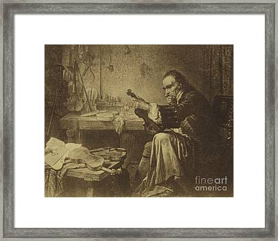 Antonio Stradivari Framed Print by Italian School
