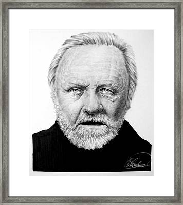 Antony-hopkins-drawing-optimized Framed Print by Ole Hedeager Mejlvang