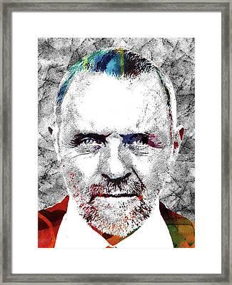 Antony Hopkins Framed Print by Mihaela Pater